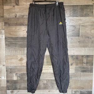 Vintage Adidas Swishy Track Pants Black
